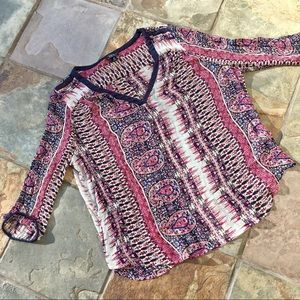 • Lucky Brand Paisley Blouse •